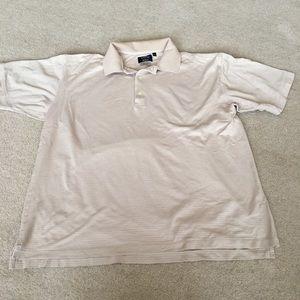 Callaway Mercerized Cotton Beige Golf Polo-L